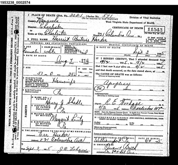 i dream of genealogy free databases - west virginia death records